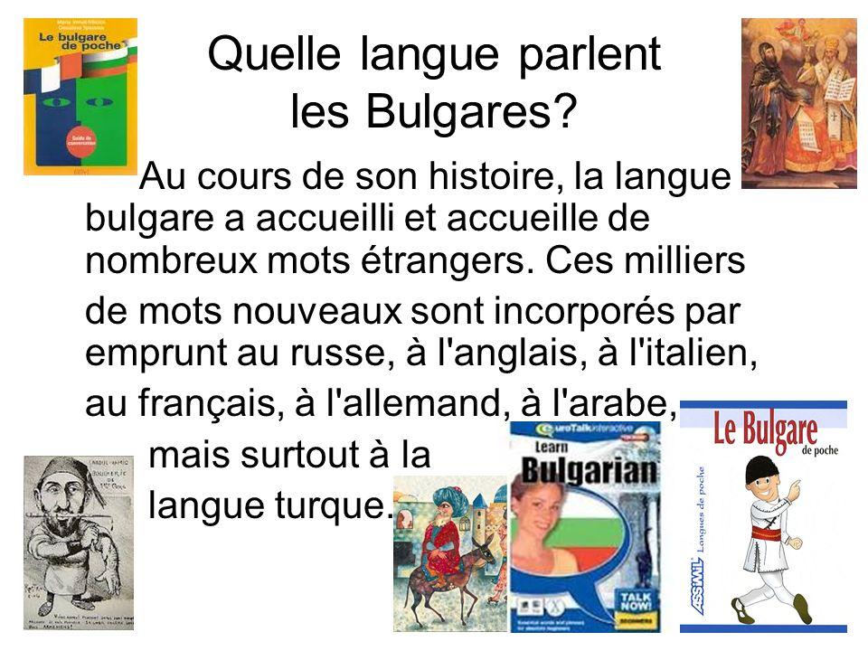 Quelle langue parlent les Bulgares