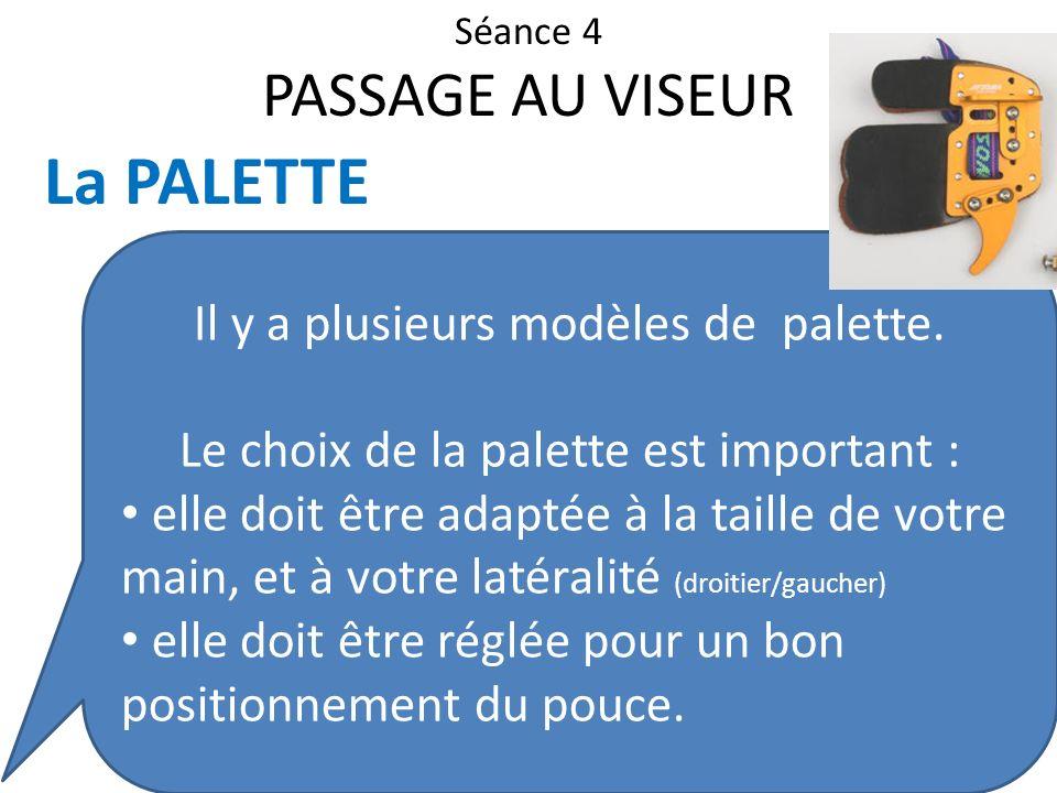 La PALETTE PASSAGE AU VISEUR Il y a plusieurs modèles de palette.