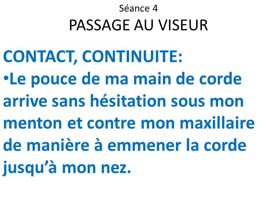 Séance 4 PASSAGE AU VISEUR. CONTACT, CONTINUITE: