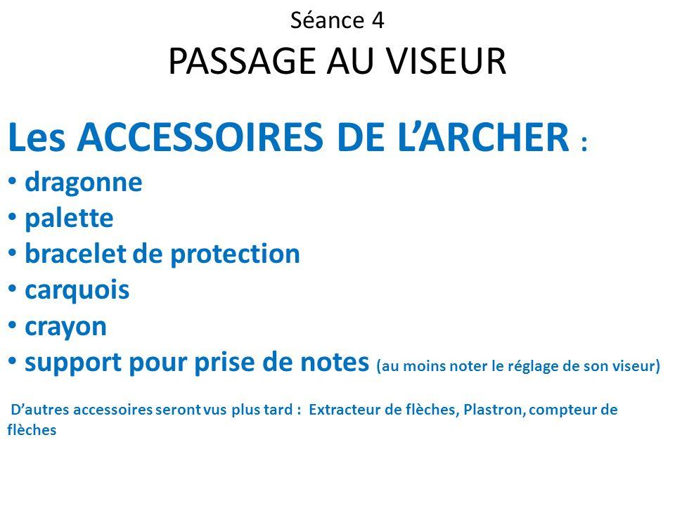 Les ACCESSOIRES DE L'ARCHER :