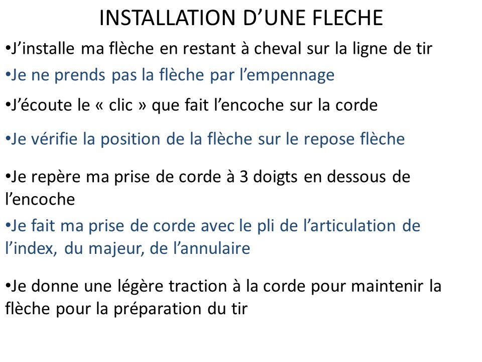 INSTALLATION D'UNE FLECHE