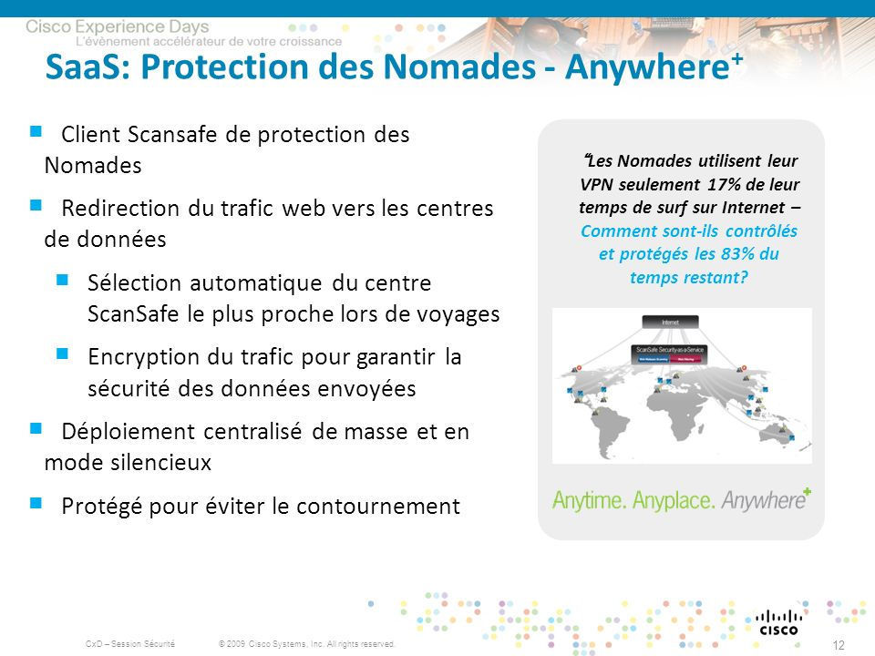 SaaS: Protection des Nomades - Anywhere+