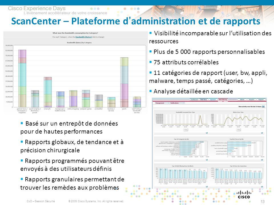 ScanCenter – Plateforme d'administration et de rapports