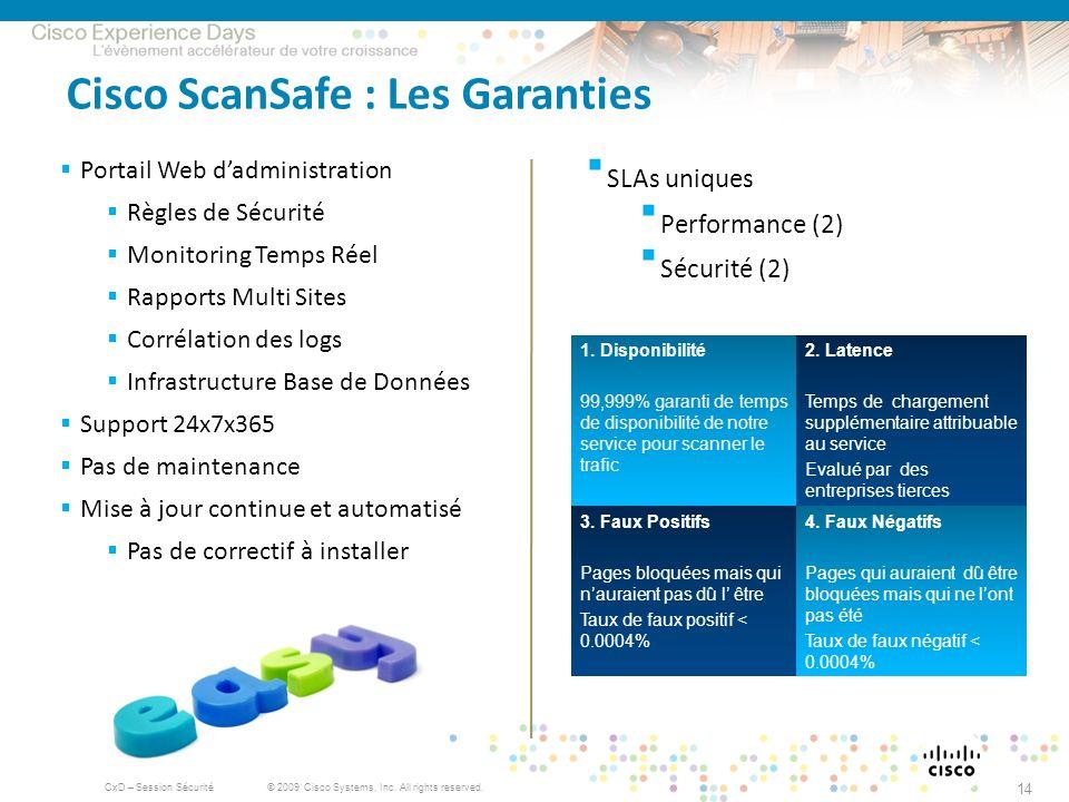 Cisco ScanSafe : Les Garanties