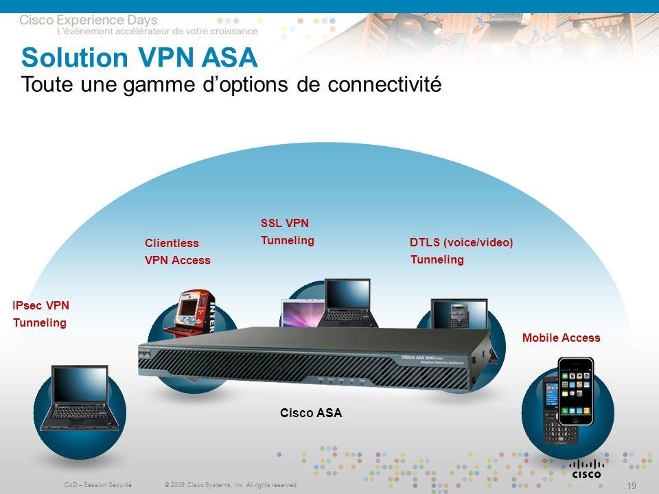 Solution VPN ASA Toute une gamme d'options de connectivité