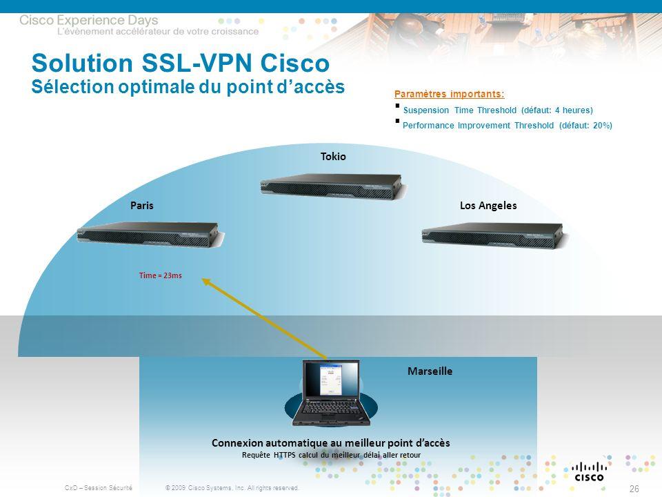 Solution SSL-VPN Cisco Sélection optimale du point d'accès