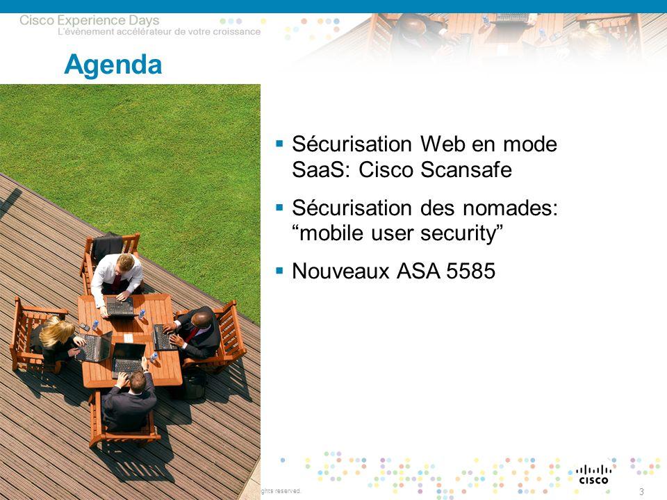 Agenda Sécurisation Web en mode SaaS: Cisco Scansafe