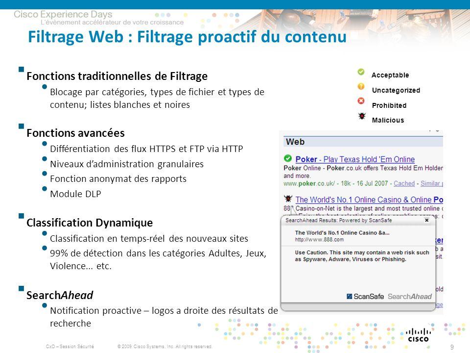 Filtrage Web : Filtrage proactif du contenu