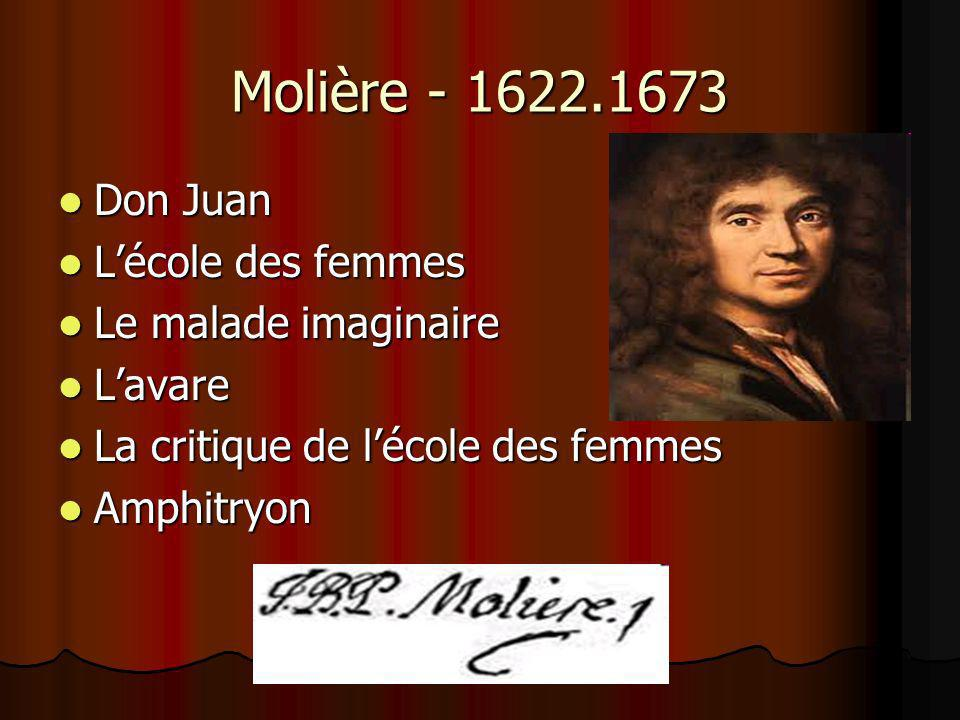 Molière - 1622.1673 Don Juan L'école des femmes Le malade imaginaire