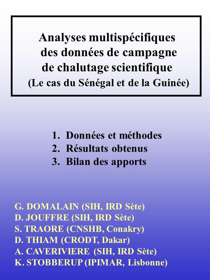 Analyses multispécifiques des données de campagne de chalutage scientifique (Le cas du Sénégal et de la Guinée)