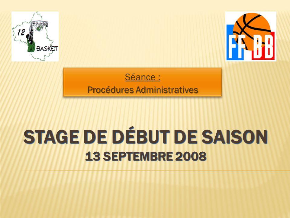 Stage de début de saison 13 Septembre 2008