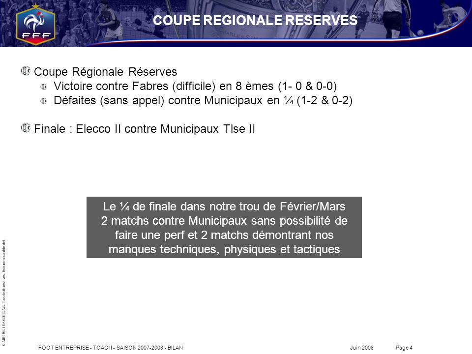 COUPE REGIONALE RESERVES