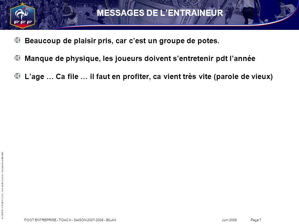 MESSAGES DE L'ENTRAINEUR