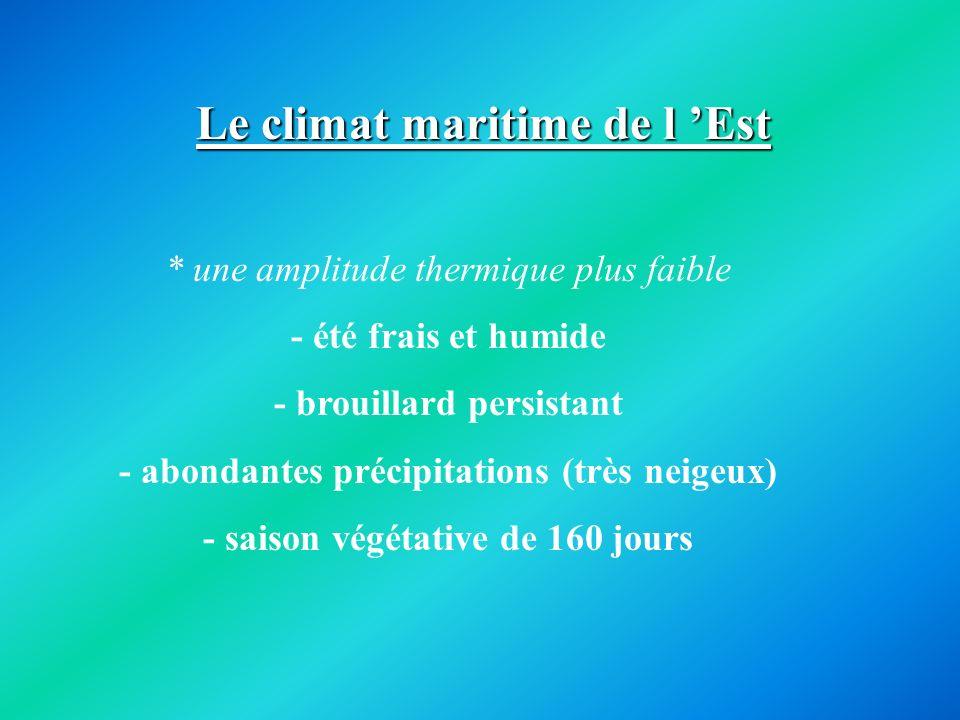 Le climat maritime de l 'Est