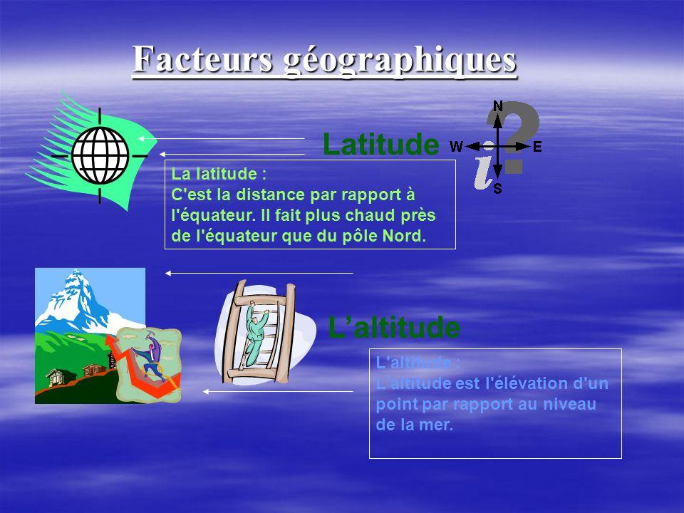 Facteurs géographiques