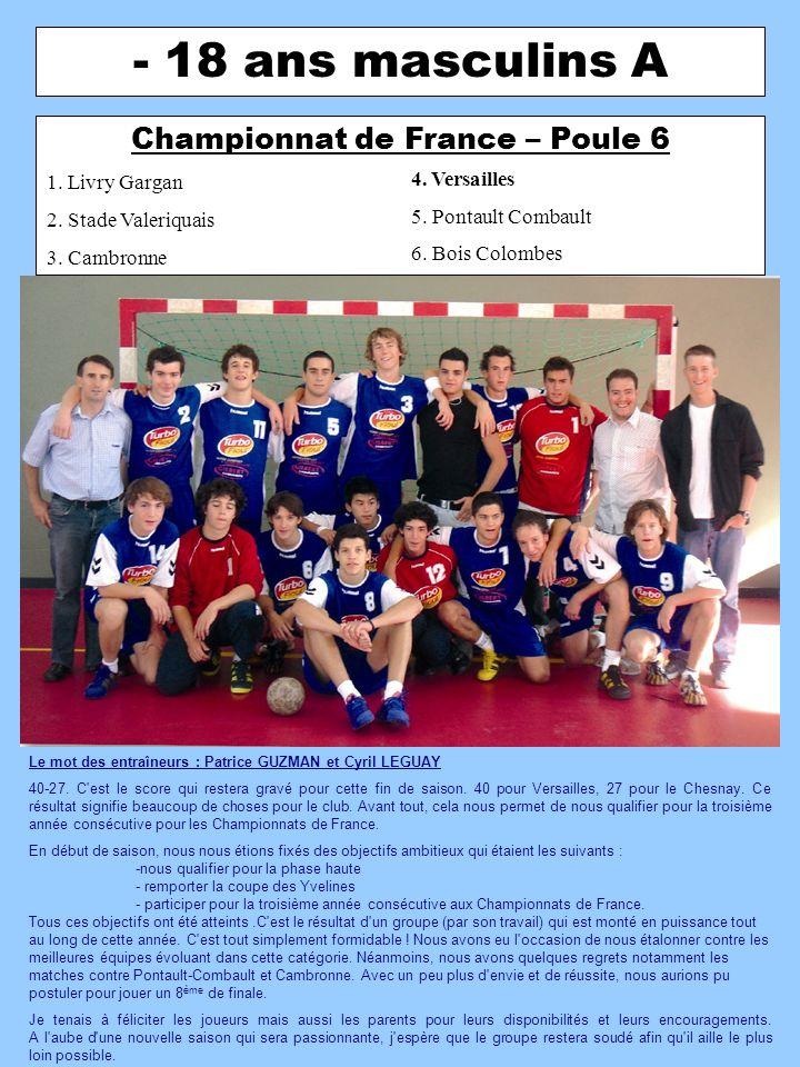 Championnat de France – Poule 6