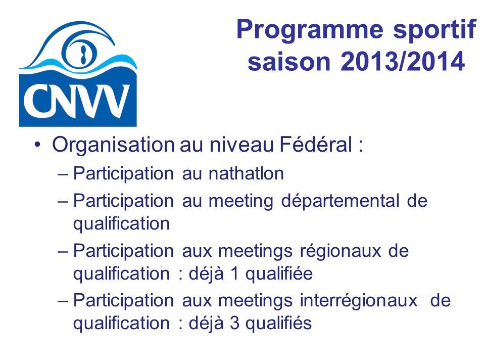Programme sportif saison 2013/2014
