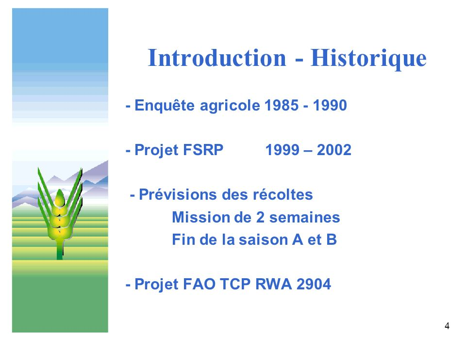 Introduction - Historique