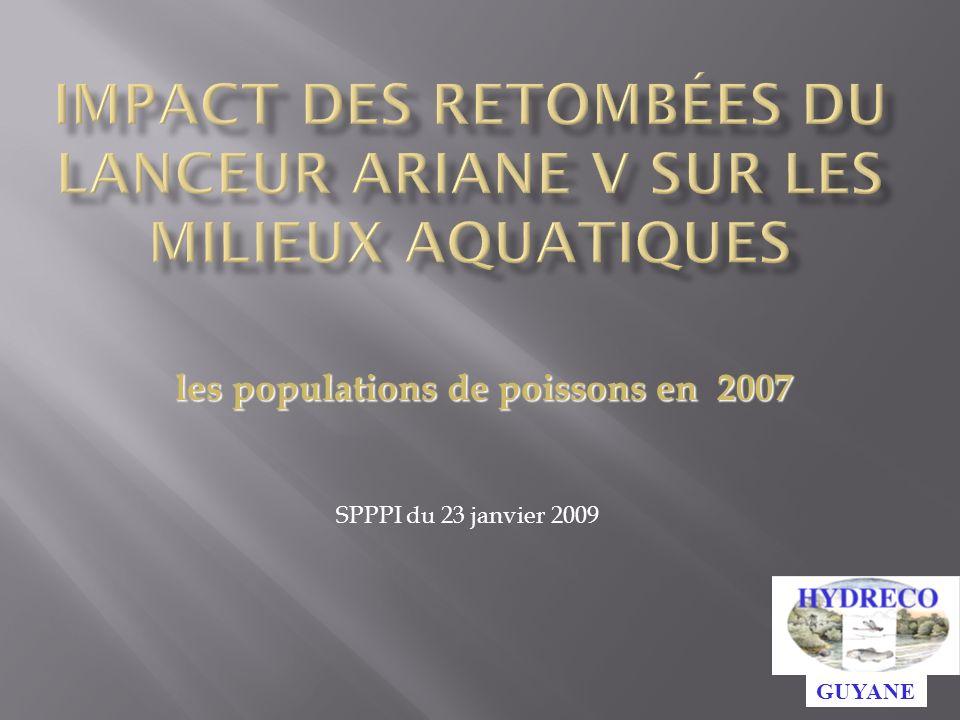 Impact des retombées du lanceur ariane v sur les milieux aquatiques