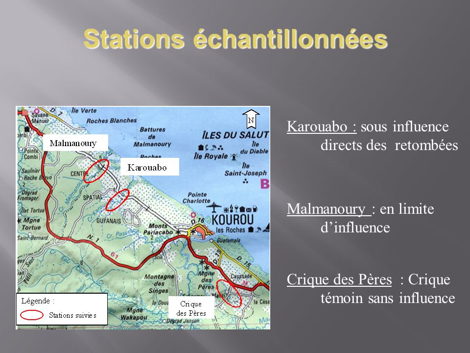 Stations échantillonnées