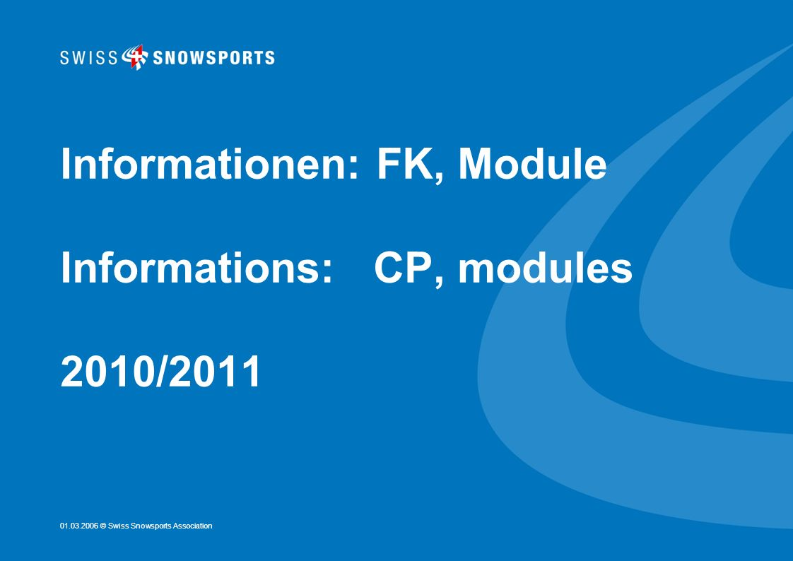 Informationen: FK, Module Informations: CP, modules 2010/2011