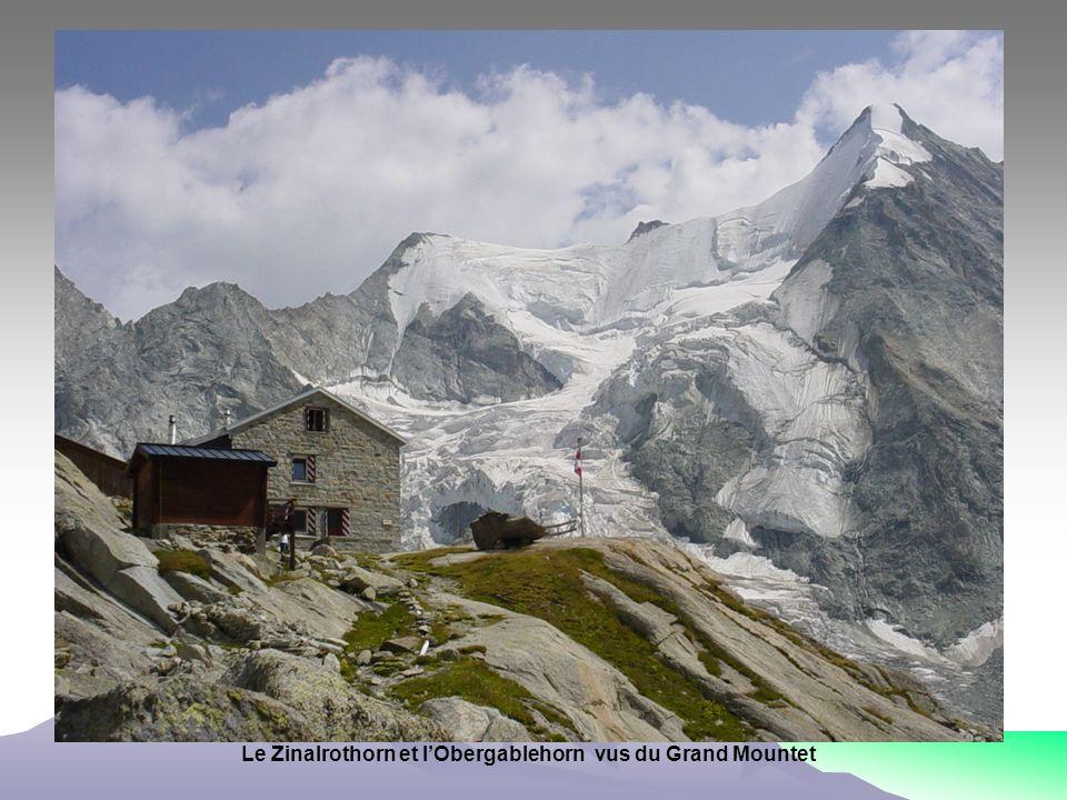 Le Zinalrothorn et l'Obergablehorn vus du Grand Mountet
