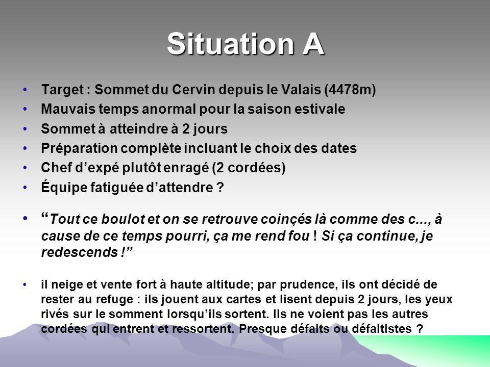 Situation A Target : Sommet du Cervin depuis le Valais (4478m) Mauvais temps anormal pour la saison estivale.