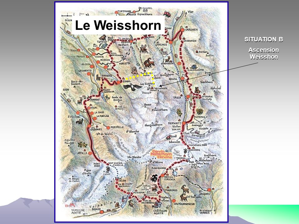 Le Weisshorn SITUATION B Ascension Weisshon