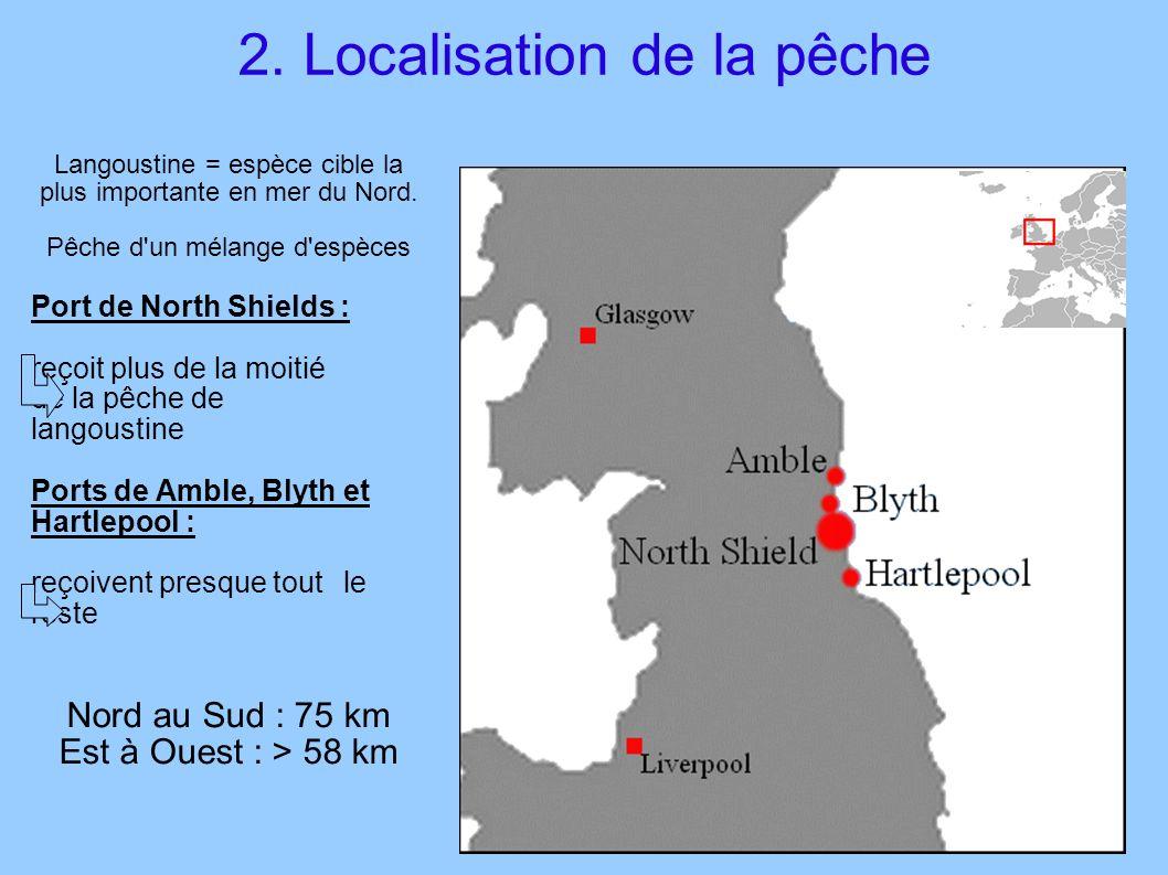2. Localisation de la pêche