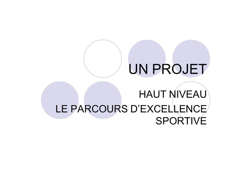 HAUT NIVEAU LE PARCOURS D'EXCELLENCE SPORTIVE