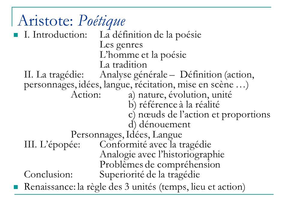 Aristote: Poétique