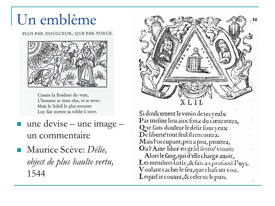 Un emblème une devise – une image – un commentaire