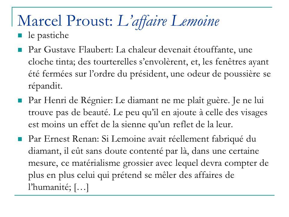 Marcel Proust: L'affaire Lemoine