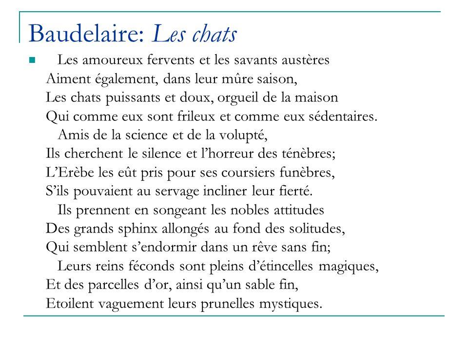 Baudelaire: Les chats