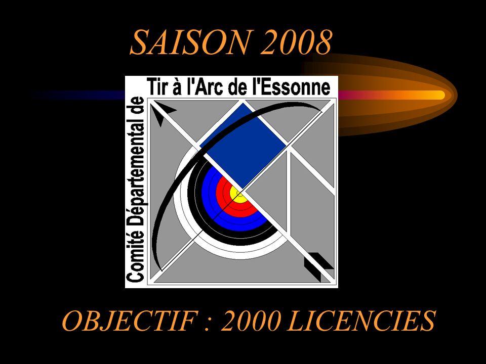 SAISON 2008 OBJECTIF : 2000 LICENCIES