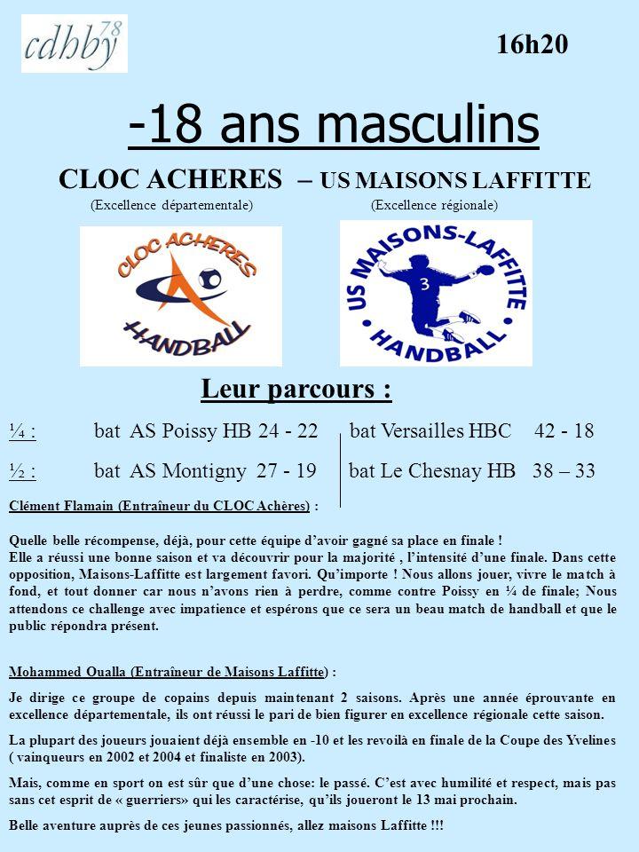 -18 ans masculins 16h20 CLOC ACHERES – US MAISONS LAFFITTE