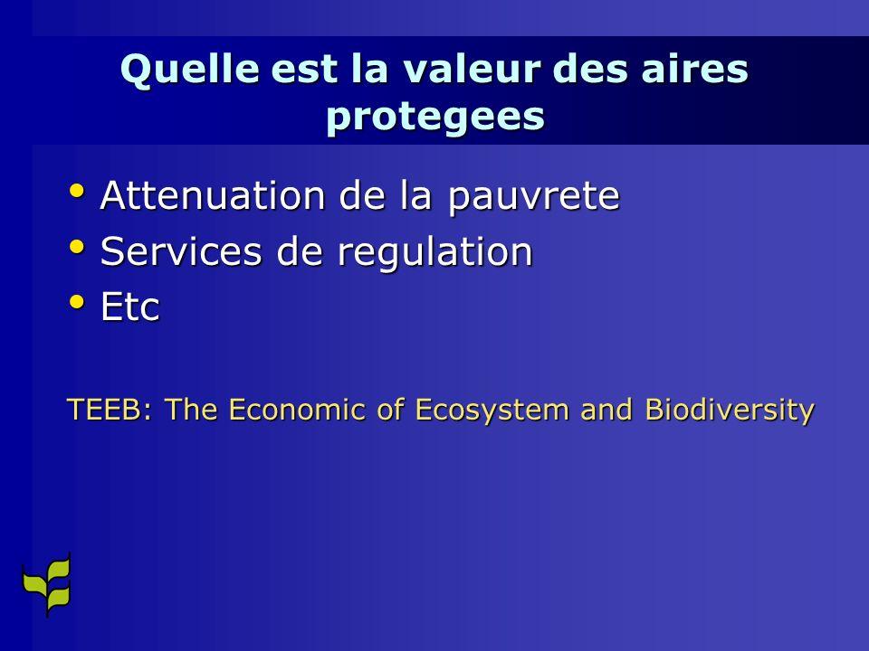 Quelle est la valeur des aires protegees