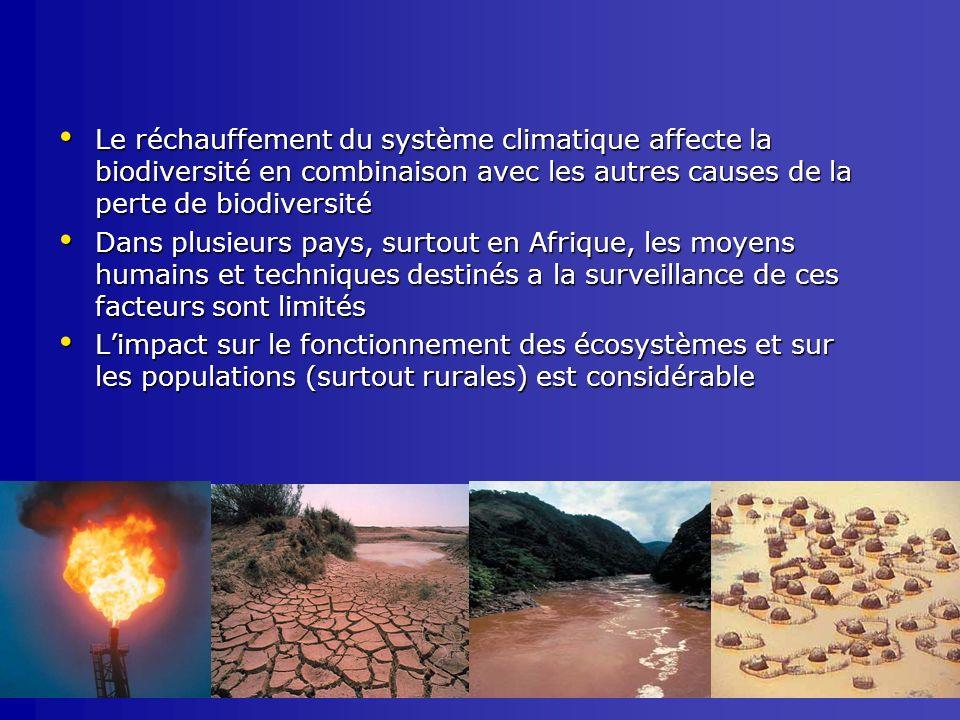 Le réchauffement du système climatique affecte la biodiversité en combinaison avec les autres causes de la perte de biodiversité