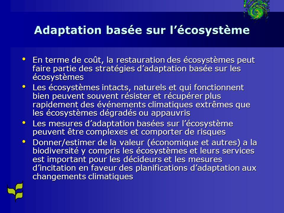 Adaptation basée sur l'écosystème