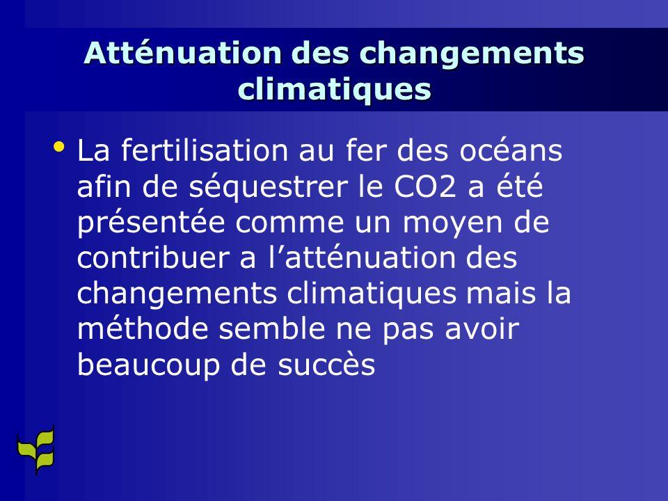 Atténuation des changements climatiques