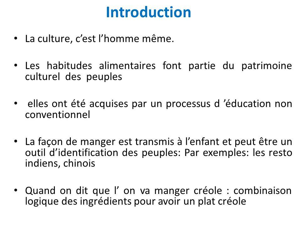 Introduction La culture, c'est l'homme même.