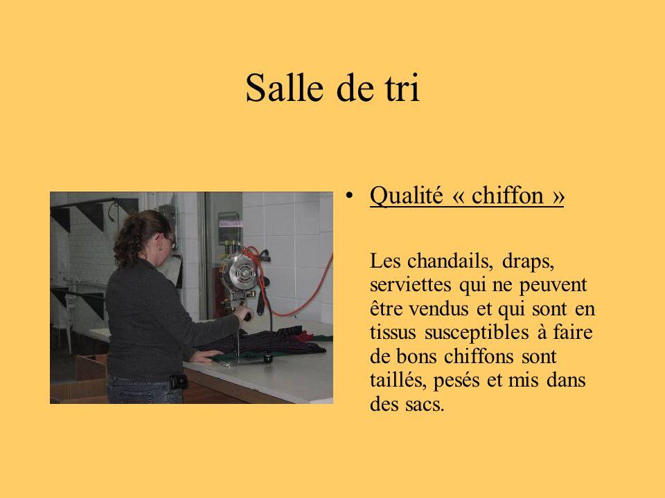 Salle de tri Qualité « chiffon »