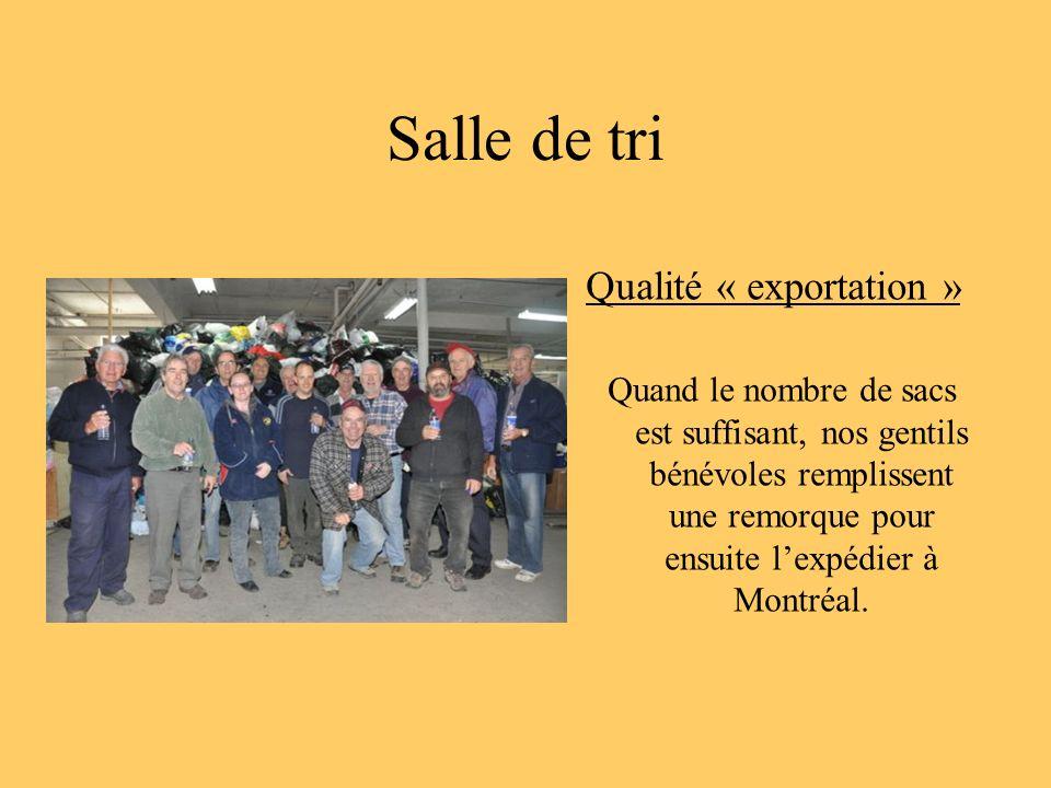 Salle de tri Qualité « exportation »