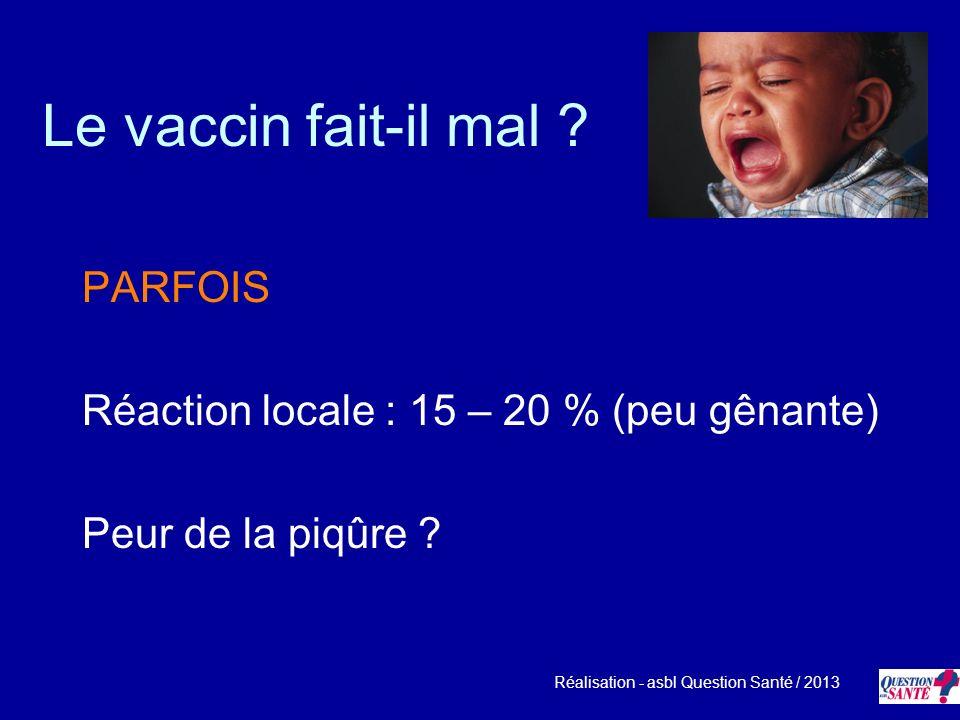 Le vaccin fait-il mal PARFOIS