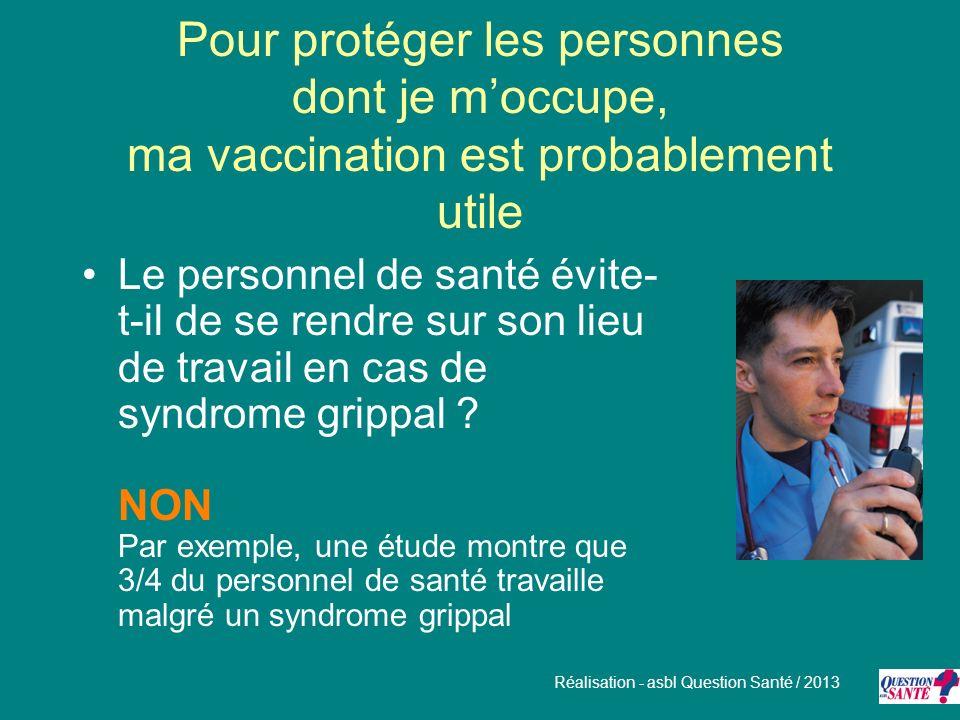 Pour protéger les personnes dont je m'occupe, ma vaccination est probablement utile