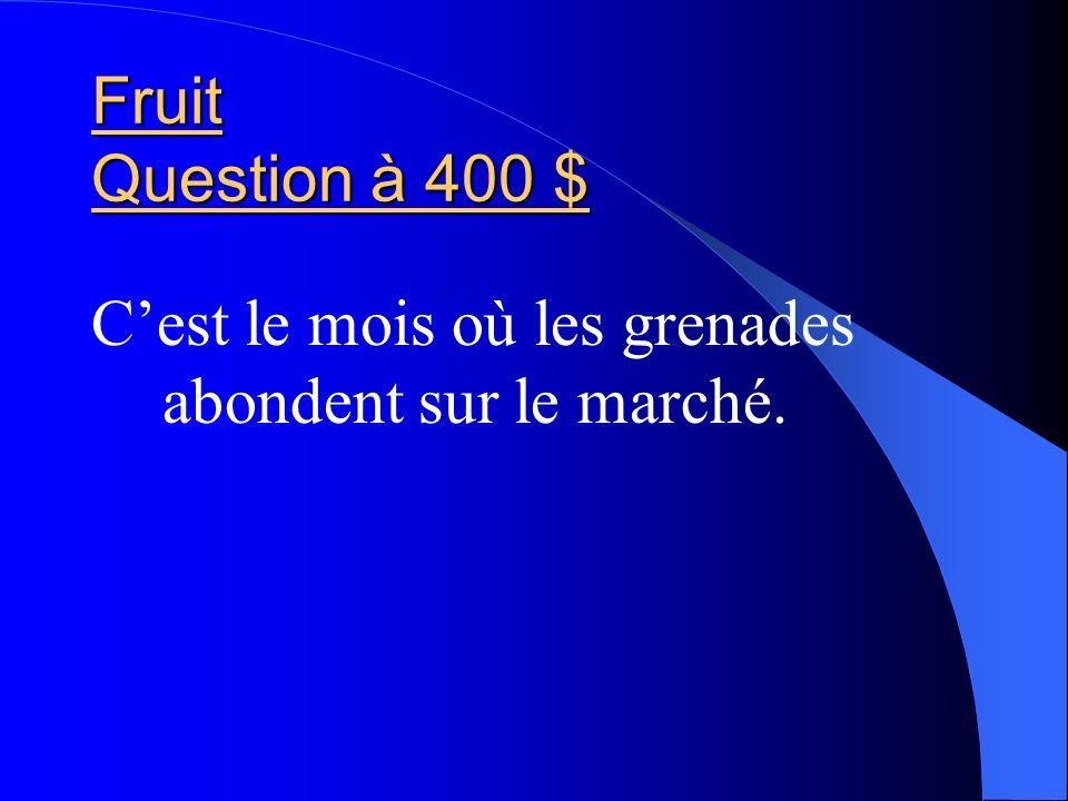 Fruit Question à 400 $ C'est le mois où les grenades abondent sur le marché.