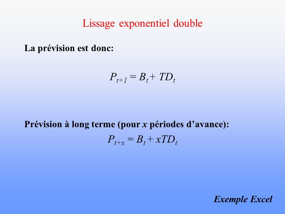 Lissage exponentiel double