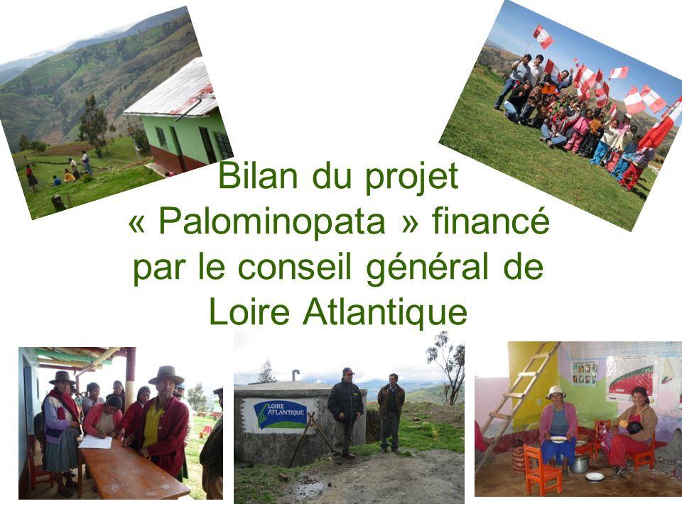 Bilan du projet « Palominopata » financé par le conseil général de Loire Atlantique