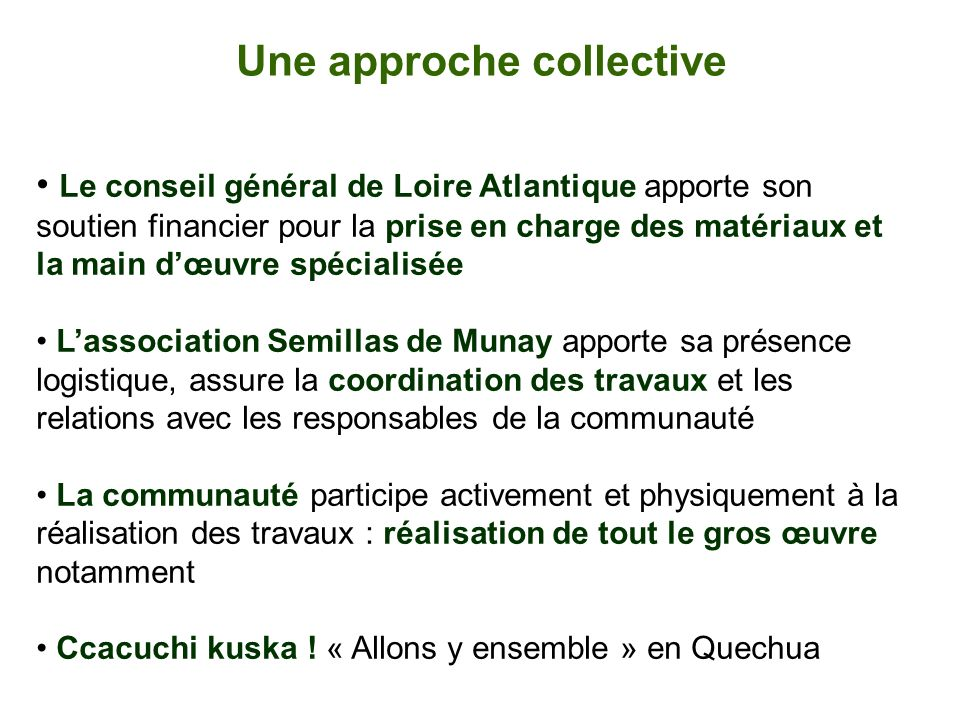 Une approche collective