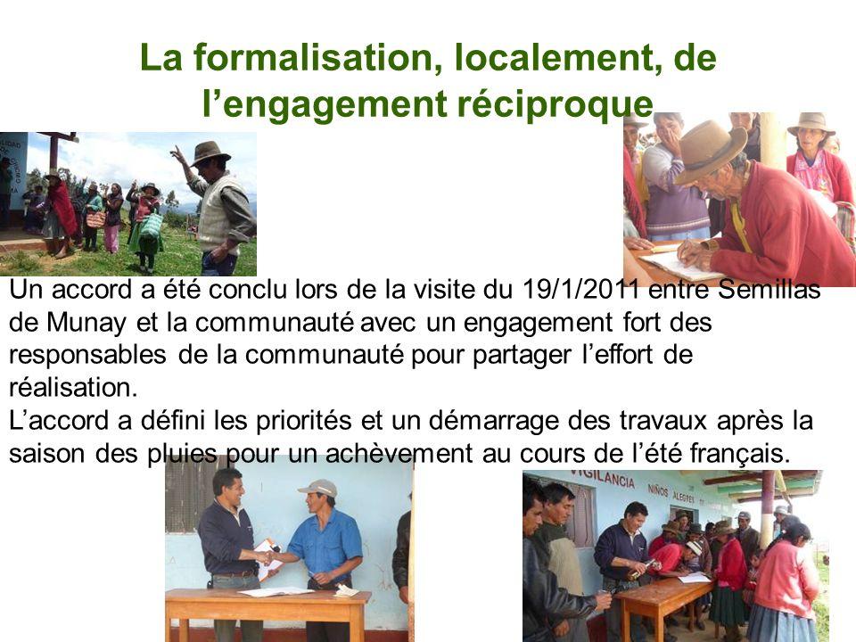 La formalisation, localement, de l'engagement réciproque